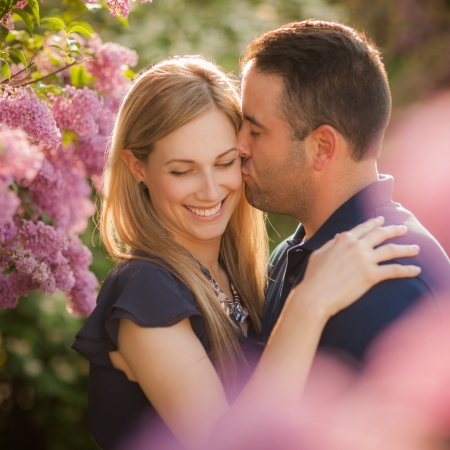 Adriana and Matt: lilacs and sunsets Engagement