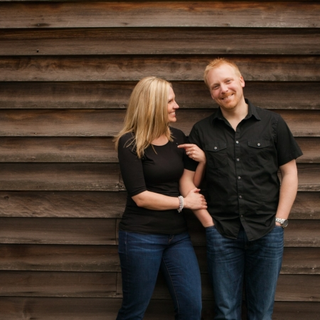 Ashley and Paul: running from raindrops Engagement
