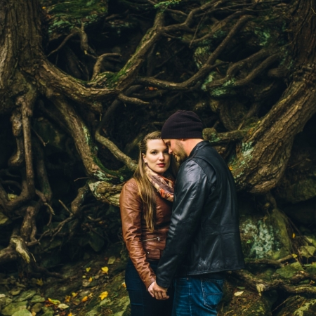 Megan and Bryan: dodging rain drops Engagement